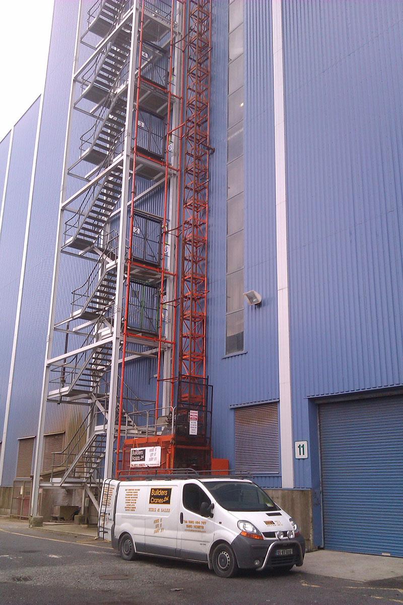 Edenderry Power Station.<br /> Passenger/ goods Hoist.